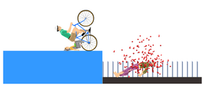 Happy Wheels spike set in action