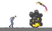 Explosion area