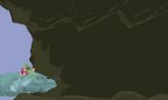 Alice entering cave