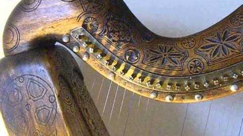 Trinity College Replica Harp - Decorated - Clarsach - Irish Harp