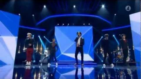 One Direction - Live While We're Young - X Factor Sweden