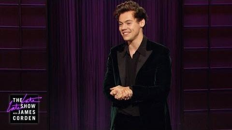 Harry Styles' Late Late Show Monologue