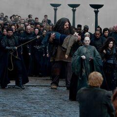 Прибытие армии Волан-де-Морта в Хогвартс