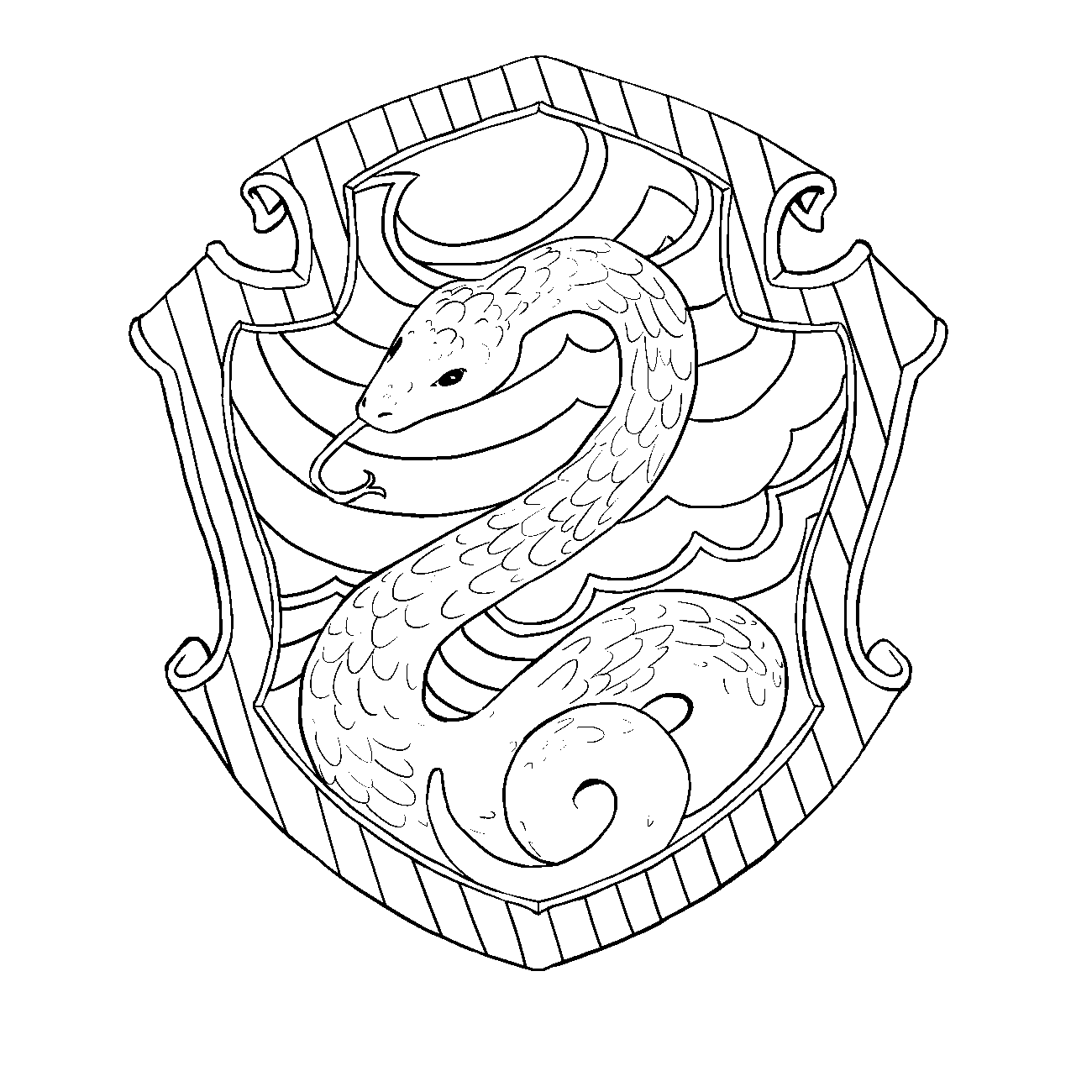 Line Art House Png : Image slytherin lineart harry potter wiki fandom