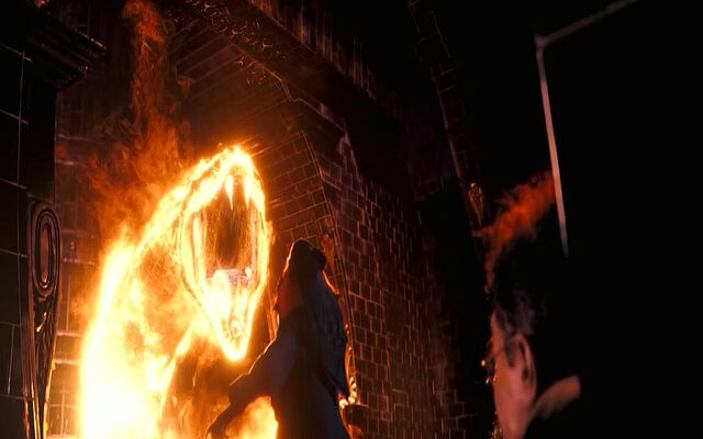 File:The flaming serpent advancing on Dumbledore.jpg