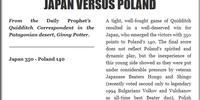 JAPAN VERSUS POLAND