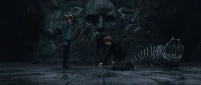 File:Ron and Hermione in the Chamber of secret.jpg