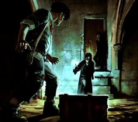 File:Tom Riddle accused Rubeus Hagrid (Concept Artwork for HP2 movie 01).JPG