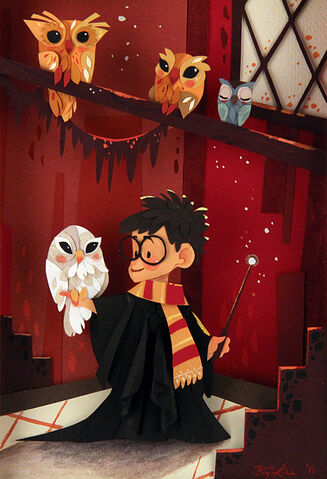 File:Size500 hp brittneylee owlry detail2 5001 40 Beautiful Harry Potter Art and Illustration Tributes.jpeg