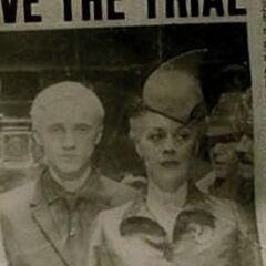 Миссис Малфой с сыном покидают заседание суда над Люциусом