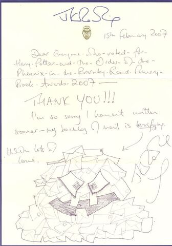 File:Mail Monster. Taken from a thank you letter to voters in the 2007 Barnby road primary book awards..jpg