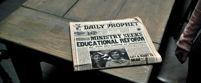 File:DH1 The Daily Prophet reports Ministry seeks educational reform.jpg