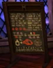 Spell instructed on blackboard