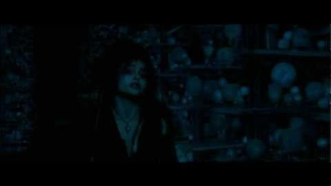 Harry Potter and the Order of the Phoenix - Bellatrix reveals herself to Harry and the others (HD)