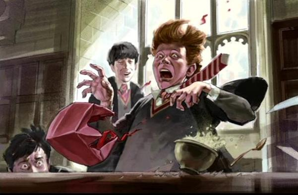 File:Ron Weasley's reaction when he received the Howler from his mother (Concept Artwork for HP2 movie).JPG