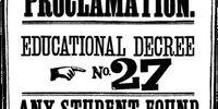 Educational Decree Number Twenty-Seven