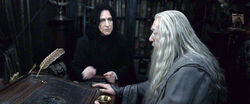 Dumbledore asks Snape to kill him