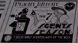 Peachy Witchy ad - The New York Ghost - FB-F