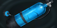 Laura Thorn's oxygen tank