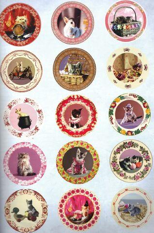 File:Many Dolores Umbridge Kitten Plates.jpg