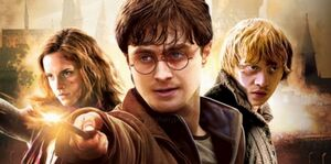 Harry,Ron and Hermione their last battle poster