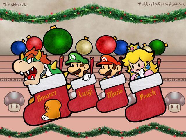 File:Super-Mario-Characters-In-Christmas-Socks-Wallpaper2-1024x768.jpg