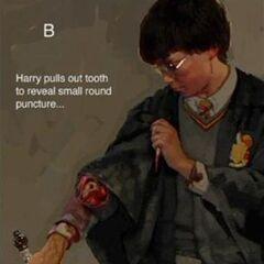 Укус василиска на руке Гарри