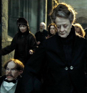 McGonagall and Flitwick prepare for the Battle of Hogwarts