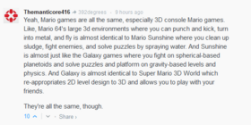 3D Mario games all look differnet