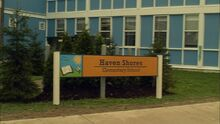 Haven Shore Elementary sign