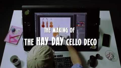The making of Hay Day Cello Decoration