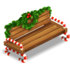 Candy Cane Bench