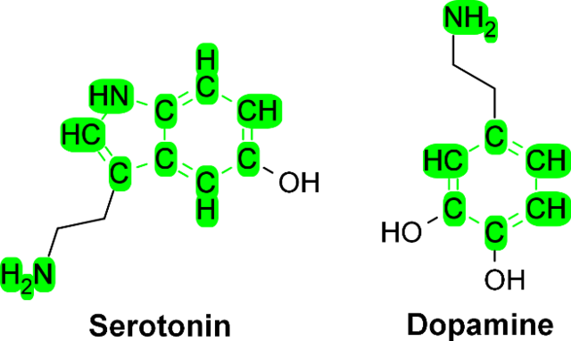 File:Structural similarities between serotonin and dopamine.png