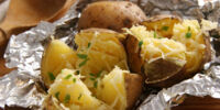 Grilled Tin Foil Cheesy Garlic Potatoes
