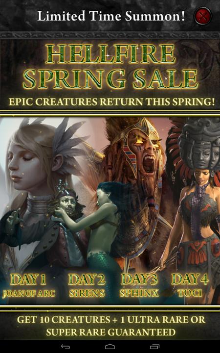 Hellfire Spring Sale
