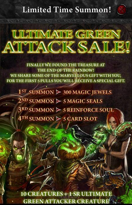 Ultimate Green Attack Sale