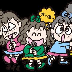 Tomo, Maiko, and Naomi