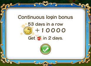 Login bonus day 53