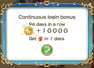 Login bonus day 94