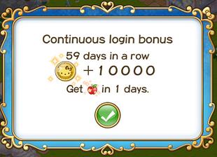 Login bonus day 59