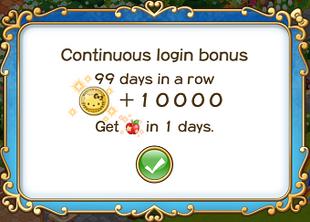 Login bonus day 99