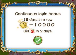 Login bonus day 18