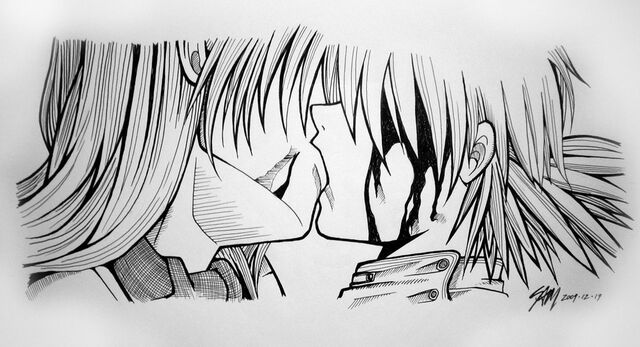 File:Hellsing Seras and Pip Kiss by hyper beam.jpg