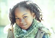 Riele Downs green scarf