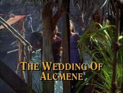Wedding of alcmene title