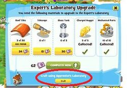 Lab upgrade craftbutton