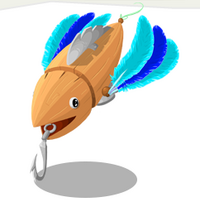 Blue Feather Lure