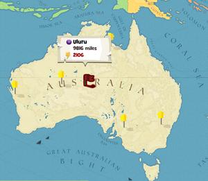 Uluru world map