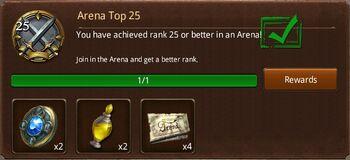 Arena Top 25