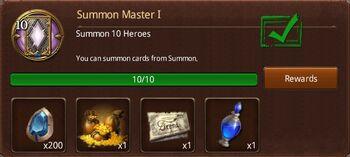 Summon master 1